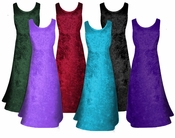 FINAL CLEARANCE SALE! MANY COLORS! Crush Velvet Princess Cut Tank Plus Size Supersize Dresses 0x  3x