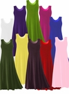 CLEARANCE! Solid Colors POLY/COTTON Stretchy Plus Size & Supersize A-Line or Princess Cut Tank Dresses 1x 0x 2x 4x