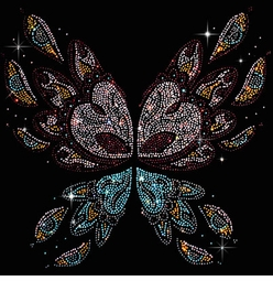 SALE! Abstract Butterfly Wings Rhinestud Rhinestones Plus Size & Supersize T-Shirts S M L XL 2x 3x 4x 5x 6x 7x 8x (All Colors)