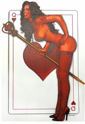 SALE! Bad Girl Queen Of Hearts Card Plus Size & Supersize T-Shirts S M L XL 2x 3x 4x 5x 6x 7x 8x