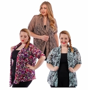 SALE! Lacestyle Floral Printed Cardigan Jacket Plus Size 4x