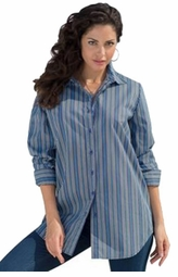 SOLD OUT! SALE! Navy Stripes Long Sleeve Plus Size Bigshirt Top 4x 5x