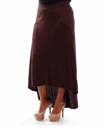SALE! Brown Red Knit Cascade Plus Size Maxi Skirt 5x