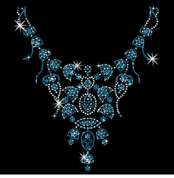 SALE! Turquoise Necklace Neckline Sparkly Rhinestud Rhinestones Plus Size & Supersize T-Shirts S M L XL 2x 3x 4x 5x 6x 7x 8x 9x (All Colors)