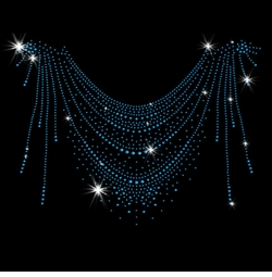 SALE! Blue Streaks Neckline Sparkly Rhinestud Rhinestones Plus Size & Supersize T-Shirts S M L XL 2x 3x 4x 5x 6x 7x 8x 9x (All Colors)