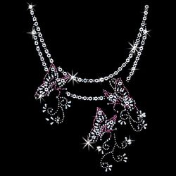 SALE! Butterfly Chain Neckline Sparkly Rhinestud Rhinestones Plus Size & Supersize T-Shirts S M L XL 2x 3x 4x 5x 6x 7x 8x (All Colors)