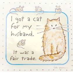 SALE! Cat For Husband Trade Note Plus Size & Supersize T-Shirts S M L XL 2x 3x 4x 5x 6x 7x 8x (Lights Only)