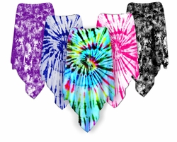 SALE! Colorful Tie Dye Plus Size Supersize Cotton Ponchos 1x to 6x