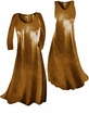 SOLD OUT! Customize Copper Metallic Slinky Print Plus Size & Supersize Standard or Cascading A-Line or Princess Cut Dresses & Shirts, Jackets, Pants, Palazzo's or Skirts Lg to 9x