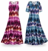 SOLD OUT! SALE! Customizable City Chic Slinky Print Plus Size & Supersize Short or Long Sleeve Dresses & Tanks - Sizes Lg to 9x