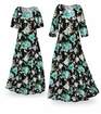 SOLD OUT! SALE! Customizable Icy Garden Slinky Print Plus Size & Supersize Standard or Cascading A-Line or Princess Cut Dresses & Shirts, Jackets, Pants, Palazzo�s or Skirts Lg to 9x