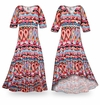 SOLD OUT! NEW! Customizable Miami Heat Slinky Print Plus Size & Supersize Standard or Cascading A-Line or Princess Cut Dresses & Shirts, Jackets, Pants, Palazzo�s or Skirts Lg to 9x
