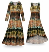 SOLD OUT! NEW! Customizable Mirage Slinky Print Plus Size & Supersize Standard or Cascading A-Line or Princess Cut Dresses & Shirts, Jackets, Pants, Palazzo�s or Skirts Lg to 9x