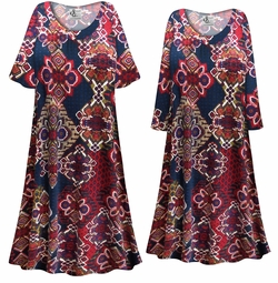 SOLD OUT! NEW! Customizable Plus Size Aztec Print Sleep Gown - Muumuu - Moo Moo Dress 0x 1x 2x 3x 4x 5x 6x 7x 8x 9x