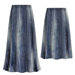 NEW! Customizable Plus Size Blue Denim Slinky Print Skirts - Sizes L XL 1x 2x 3x 4x 5x 6x 7x 8x 9x