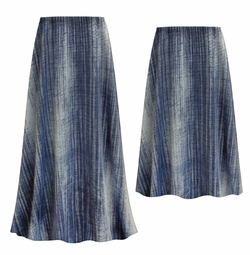SOLD OUT! Customizable Plus Size Blue Denim Slinky Print Skirts - Sizes L XL 1x 2x 3x 4x 5x 6x 7x 8x 9x