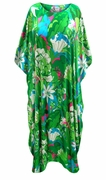 SOLD OUT! Customizable Plus Size Bora Bora Satiny Print Long Caftan Dresses or Tops 1x 2x 3x 4x 5x 6x 7x 8x