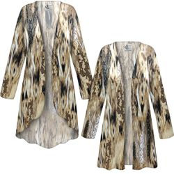 NEW! Customizable Plus Size Brown Snake SLINKY Print Jackets & Dusters - Sizes L XL 1x 2x 3x 4x 5x 6x 7x 8x 9x