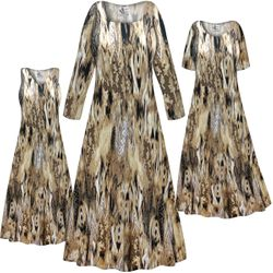 NEW! Customizable Plus Size Brown Snake SLINKY Print Short or Long Sleeve Dresses & Tanks - Sizes L XL 1x 2x 3x 4x 5x 6x 7x 8x 9x