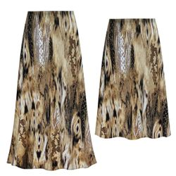 NEW! Customizable Plus Size Brown Snake Slinky Print Skirts - Sizes L XL 1x 2x 3x 4x 5x 6x 7x 8x 9x