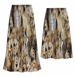 SOLD OUT! Customizable Plus Size Brown Snake Slinky Print Skirts - Sizes L XL 1x 2x 3x 4x 5x 6x 7x 8x 9x