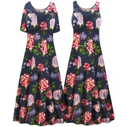 Customizable Plus Size Camden Floral Print Princess Cut SLINKY Dress 0x 1x 2x 3x 4x 5x 6x 7x 8x 9x