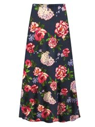 Customizable Plus Size Camden Floral Slinky Print Skirt - Sizes L XL 1x 2x 3x 4x 5x 6x 7x 8x 9x