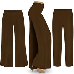 NEW! Customizable Plus Size Chocolate Brown Palazzo Pants - Tapered Pants in Brushed OR Rayon - Sizes L XL 1x 2x 3x 4x 5x 6x 7x 8x 9x