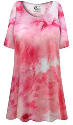 NEW! Customizable Plus Size Cotton Candy Marbled Print Extra Long Poly/Cotton T-Shirts 0x 1x 2x 3x 4x 5x 6x 7x 8x 9x