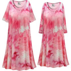 NEW! Customizable Plus Size Cotton Candy Marbled Print Sleep Gown - Muumuu - Moo Moo Dress 0x 1x 2x 3x 4x 5x 6x 7x 8x 9x
