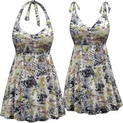 NEW! Customizable Plus Size Everglades Print Halter or Shoulder Strap 2pc Swimsuit/SwimDress 0x 1x 2x 3x 4x 5x 6x 7x 8x 9x