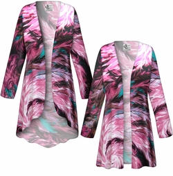SALE! Customizable Plus Size Feather Dance SLINKY Print Jackets & Dusters - Sizes L XL 1x 2x 3x 4x 5x 6x 7x 8x 9x