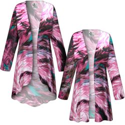 NEW! Customizable Plus Size Feather Dance SLINKY Print Jackets & Dusters - Sizes L XL 1x 2x 3x 4x 5x 6x 7x 8x 9x