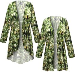 NEW! Customizable Plus Size Forest Slinky Print Jackets & Dusters - Sizes Lg XL 1x 2x 3x 4x 5x 6x 7x 8x 9x