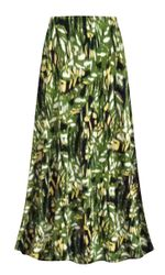 Customizable Plus Size Forest Slinky Print Skirts - Sizes Lg XL 1x 2x 3x 4x 5x 6x 7x 8x 9x