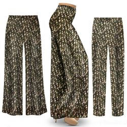 Customizable Plus Size Gemstone Print Slinky Palazzo Pants - Tapered Pants - Sizes L XL 1x 2x 3x 4x 5x 6x 7x 8x 9x