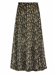 Customizable Plus Size Black & Tan Gemstone Print Slinky Skirt - Sizes L XL 1x 2x 3x 4x 5x 6x 7x 8x 9x