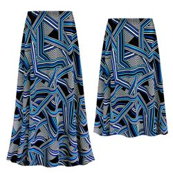 NEW! Customizable Plus Size Geometric Slinky Print Skirts - Sizes L XL 1x 2x 3x 4x 5x 6x 7x 8x 9x