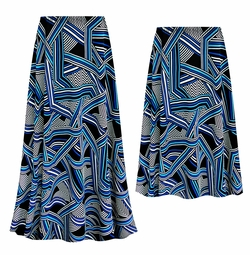 SOLD OUT! Customizable Plus Size Geometric Slinky Print Skirts - Sizes L XL 1x 2x 3x 4x 5x 6x 7x 8x 9x
