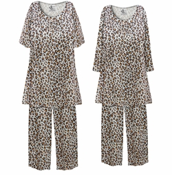 SOLD OUT! Customizable Plus Size Gray & Rust Animal Print 2 Piece Pajama Pant Set 0x 1x 2x 3x 4x 5x 6x 7x 8x 9x