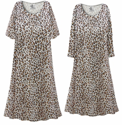 SALE! Customizable Plus Size Gray & Rust Animal Print Sleep Gown - Muumuu - Moo Moo Dress 0x 1x 2x 3x 4x 5x 6x 7x 8x 9x