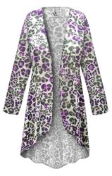 NEW! Customizable Plus Size Iridescent Animal Slinky Print Jackets & Dusters - Sizes Lg XL 1x 2x 3x 4x 5x 6x 7x 8x 9x