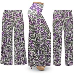 NEW! Customizable Plus Size Iridescent Animal Slinky Print Palazzo Pants - Tapered Pants - Sizes Lg XL 1x 2x 3x 4x 5x 6x 7x 8x 9x