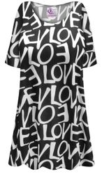 NEW! Customizable Plus Size LOVE Print Extra Long Poly/Cotton T-Shirts 0x 1x 2x 3x 4x 5x 6x 7x 8x 9x