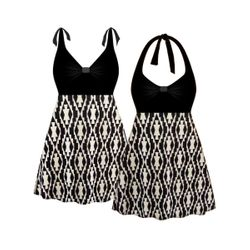 NEW! Customizable Plus Size Classy MOD Halter or Shoulder Strap 2pc Swimsuit/SwimDress 0x 1x 2x 3x 4x 5x 6x 7x 8x 9x