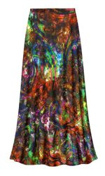 NEW! Customizable Plus Size Paisley Slinky Print Skirts - Sizes Lg XL 1x 2x 3x 4x 5x 6x 7x 8x 9x