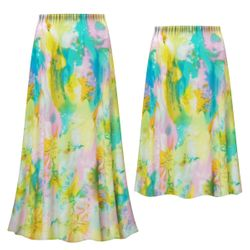 NEW! Customizable Plus Size Pastel Abstract Slinky Print Skirts - Sizes L XL 1x 2x 3x 4x 5x 6x 7x 8x 9x