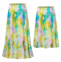 SALE! Customizable Plus Size Pastel Abstract Slinky Print Skirts - Sizes L XL 1x 2x 3x 4x 5x 6x 7x 8x 9x