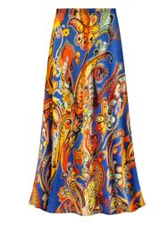 NEW! Customizable POLY/COTTON Plus Size Power Paisley Print Skirts - Sizes Lg XL 1x 2x 3x 4x 5x 6x 7x 8x 9x