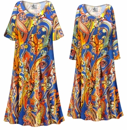 SALE! Customizable Plus Size Power Paisley Print Sleep Gown - Muumuu - Moo Moo Dress 0x 1x 2x 3x 4x 5x 6x 7x 8x 9x